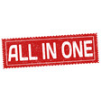 all in one grunge rubber stamp vector image