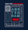 amsterdam city images typography vector image vector image