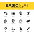 basic set networking icons vector image vector image