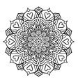 Black Mandala with Hearts vector image