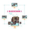 blockchain technology design concept vector image vector image