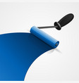 blue paintbrush roller vector image
