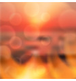 blurred summer sea sunset background vector image vector image