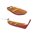 boat and pirogue flat icon vector image vector image