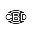 c b d letter lines design