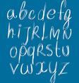Calligraphic script font alphabet letters vector image