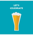 celebration invitation with glass of beer vector image vector image