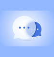 chat with speech bubble vector image