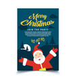 christmas poster template ready to print vector image vector image
