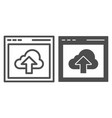 cloud computing download line and glyph icon data vector image