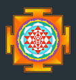colored Sri yantra vector image