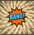 comic bright brown background vector image vector image