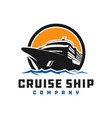 cruise ship logo design vector image