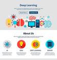 deep learning website design vector image