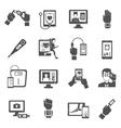 Digital Health Icons Set vector image