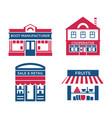 digital red blue supermarket vector image vector image
