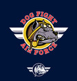 dog fifght insignia pilotbull wwii nose art vector image