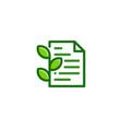eco document logo icon design vector image vector image