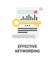 effective keywording icon concept vector image