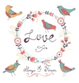 Elegant love card vector image vector image