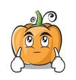 eye roll pumpkin character cartoon style vector image