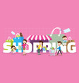 family shopping concept vector image
