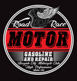 garage repair service print for t shirt in custom vector image vector image