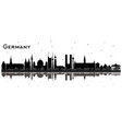 germany city skyline silhouette with black vector image vector image