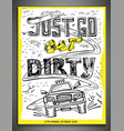 hand drawn offroad lettering vector image