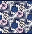 handdrawn flower seamless pattern vector image vector image