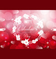 happy valentines day on a sparkle background vector image