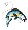 harpoon fishing vector image vector image