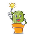have an idea cute cactus character cartoon vector image vector image