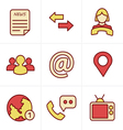 Icons Style Media and communication icons vector image