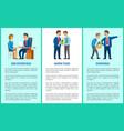 job interview work task dismissal poster vector image vector image