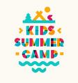 kids summer camp banner vector image