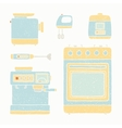 Kitchen appliances set vector image vector image