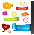 labels stickers vector image vector image