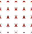 location pin icon pattern seamless white vector image vector image