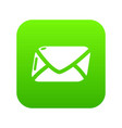 mail icon green vector image vector image