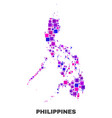 mosaic philippines map of square elements vector image vector image
