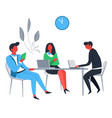 office workers business and teamwork businessmen vector image