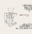 pour over coffeemaker vector image vector image
