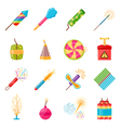 Pyrotechnics Festival Flat Icons Set vector image vector image