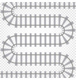 rail railroad track railway vector image vector image