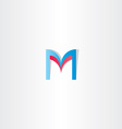 red blue letter m logotype element icon vector image vector image