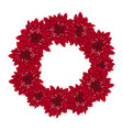 red chrysanthemum wreath vector image vector image