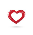 red striped heart vector image