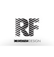 rf r f lines letter design with creative elegant vector image vector image