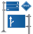 road Signs blue color vector image vector image